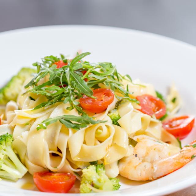 Spaghettie con Gaberie Aglio Olio - The Boatdeck